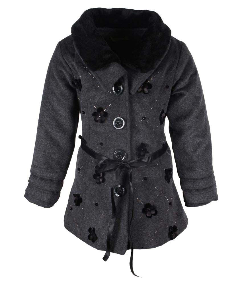 Cutecumber  Partywear Winter  Girls  Grey  Jacket