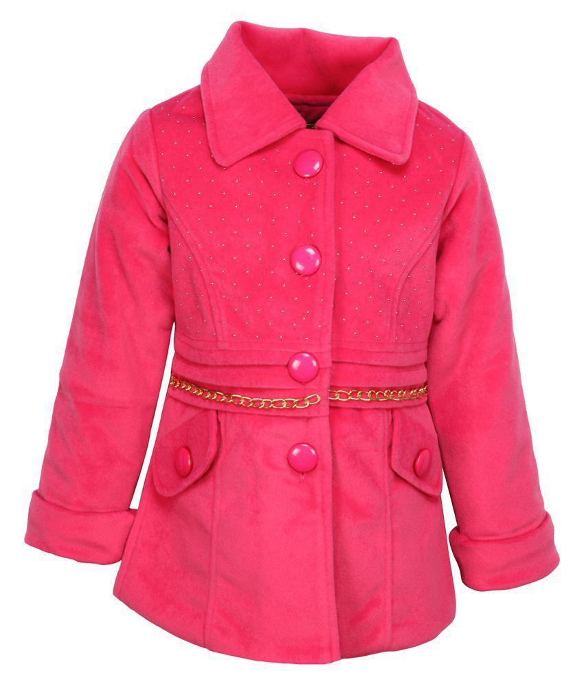 Cutecumber  Partywear Winter  Girls  Pink Jacket
