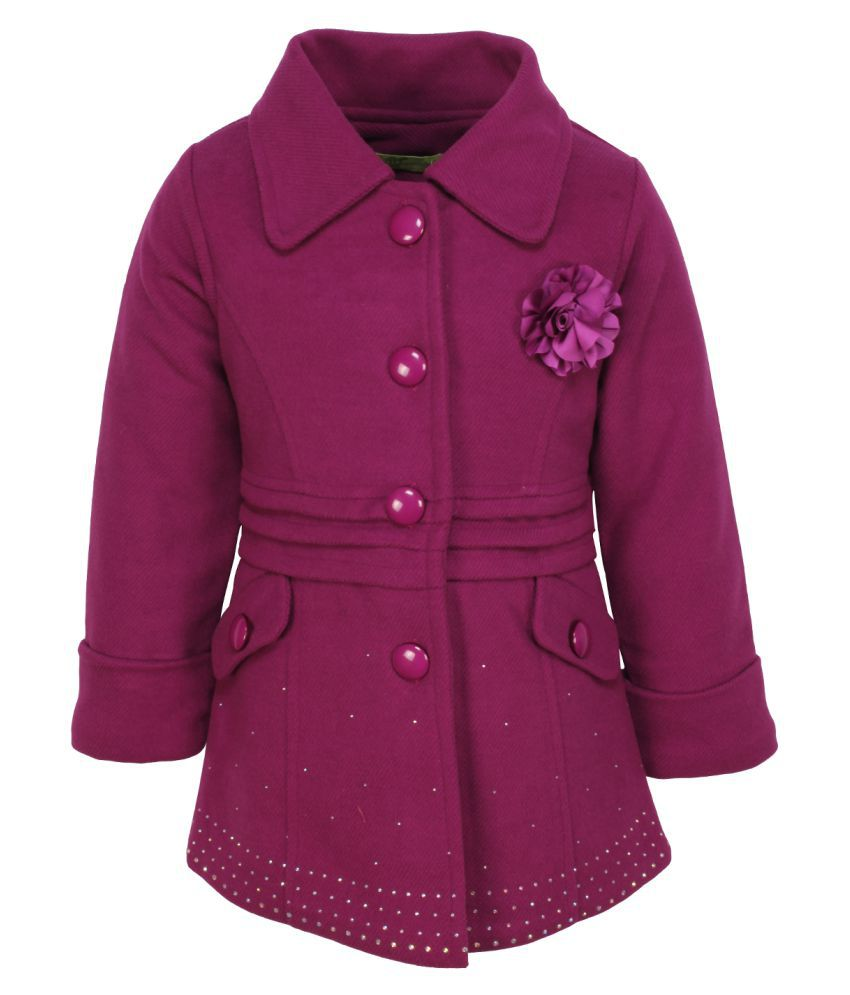 Cutecumber Purple Polyester Coat