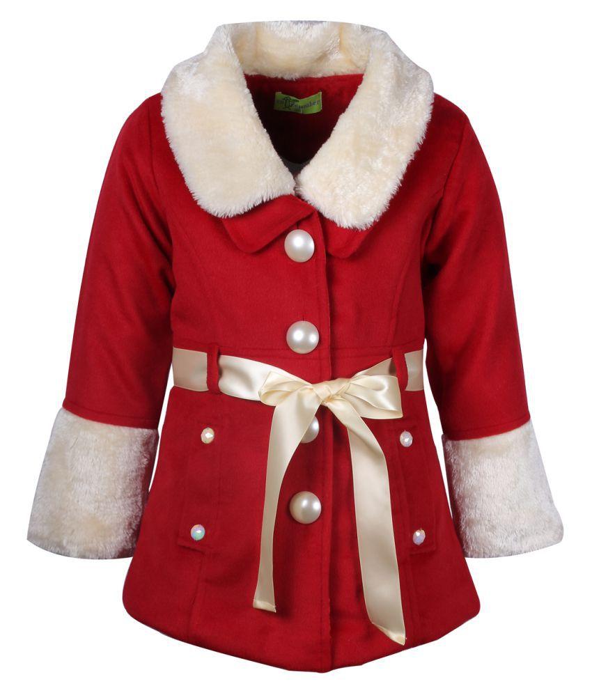 Cutecumber Red Polyester Winter Jacket