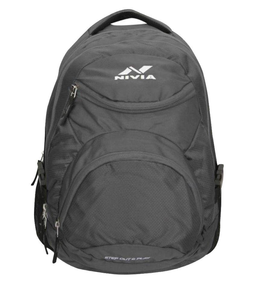 Nivia Dark Grey Backpack-5185dg