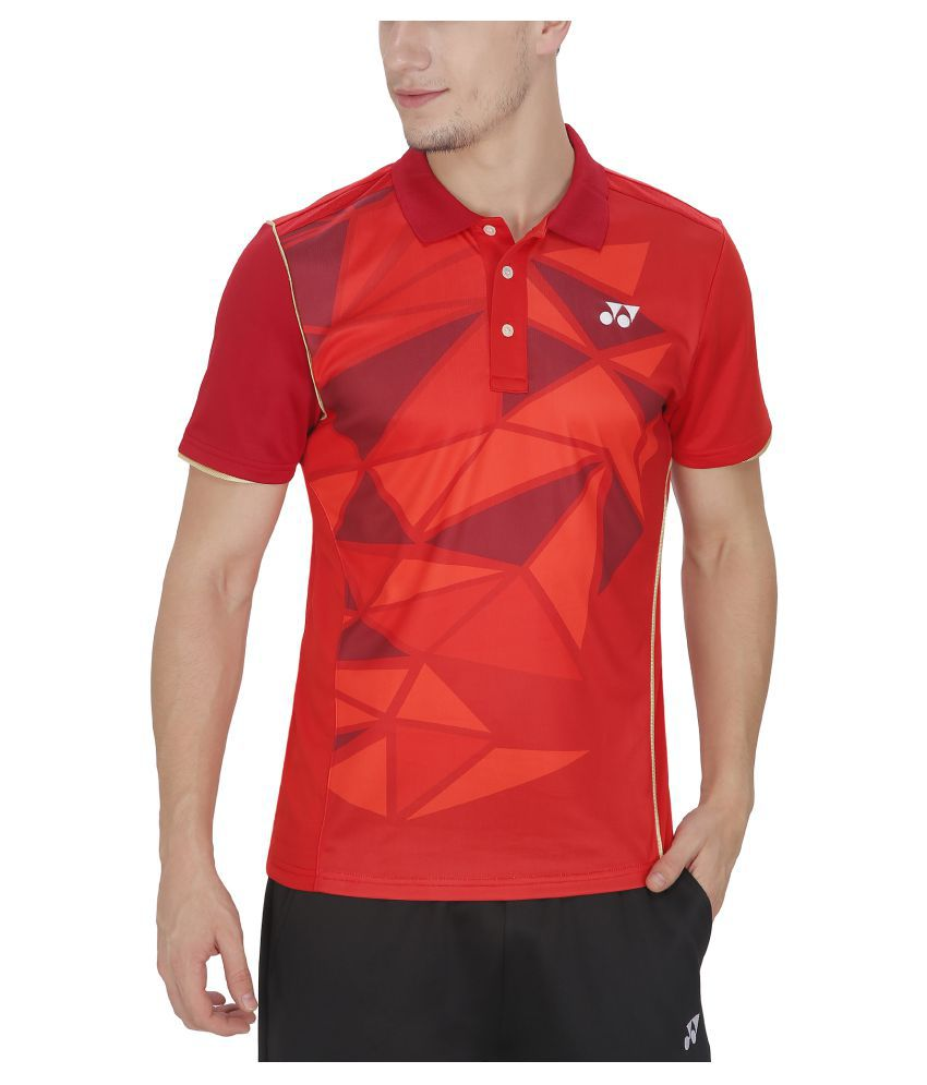 Yonex Red Badminton Mens T Shirt PM6-12093B