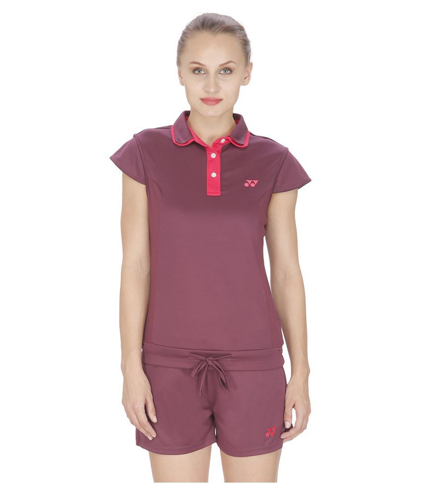 Yonex Pink Polyester Polo T-Shirt
