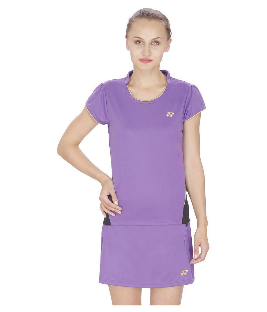 Yonex Purple Polyester T Shirts