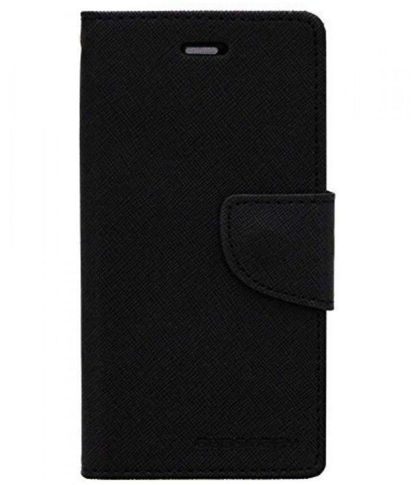 Lenovo A390 Flip Cover by Goldenize   Black available at SnapDeal for Rs.336