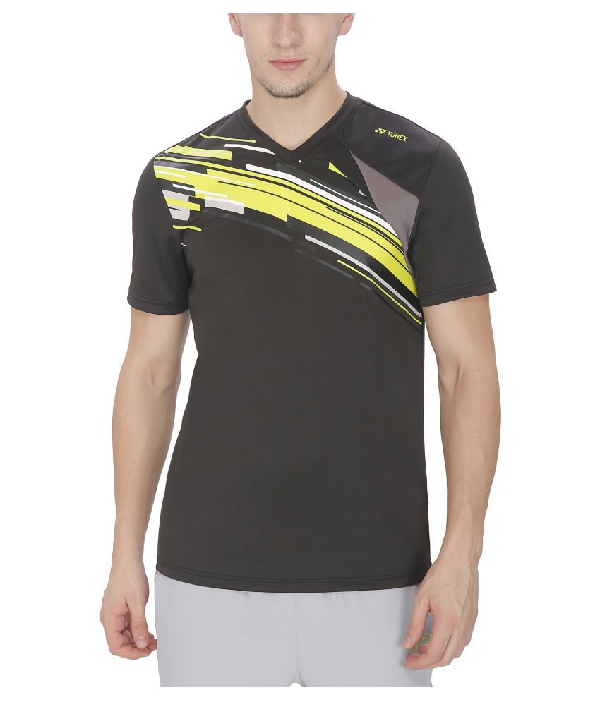 Yonex Black Badminton T-Shirt for Men