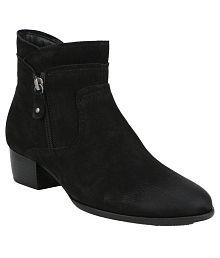La Briza Black Ankle Length Chelsea Boots