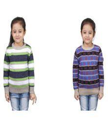 Crazeis Multicolor Wollen Pullovers