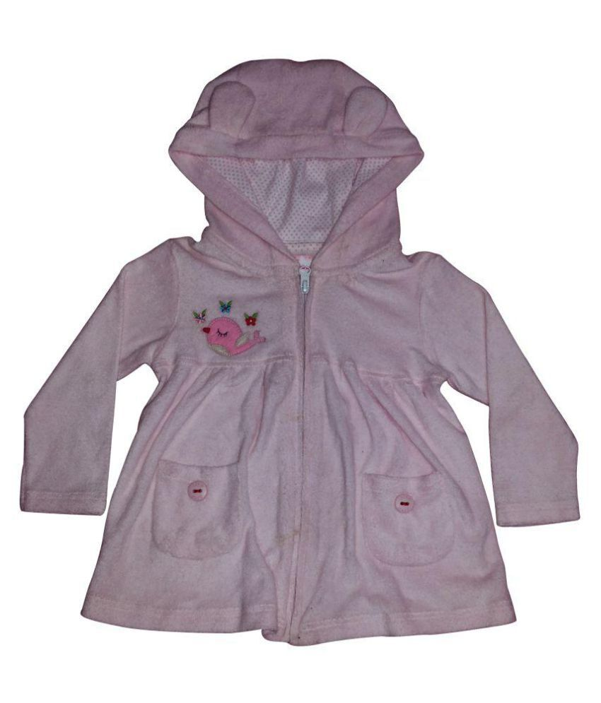 Johny Johny Yes Papa Light Pink Wollen Light Weight Jacket