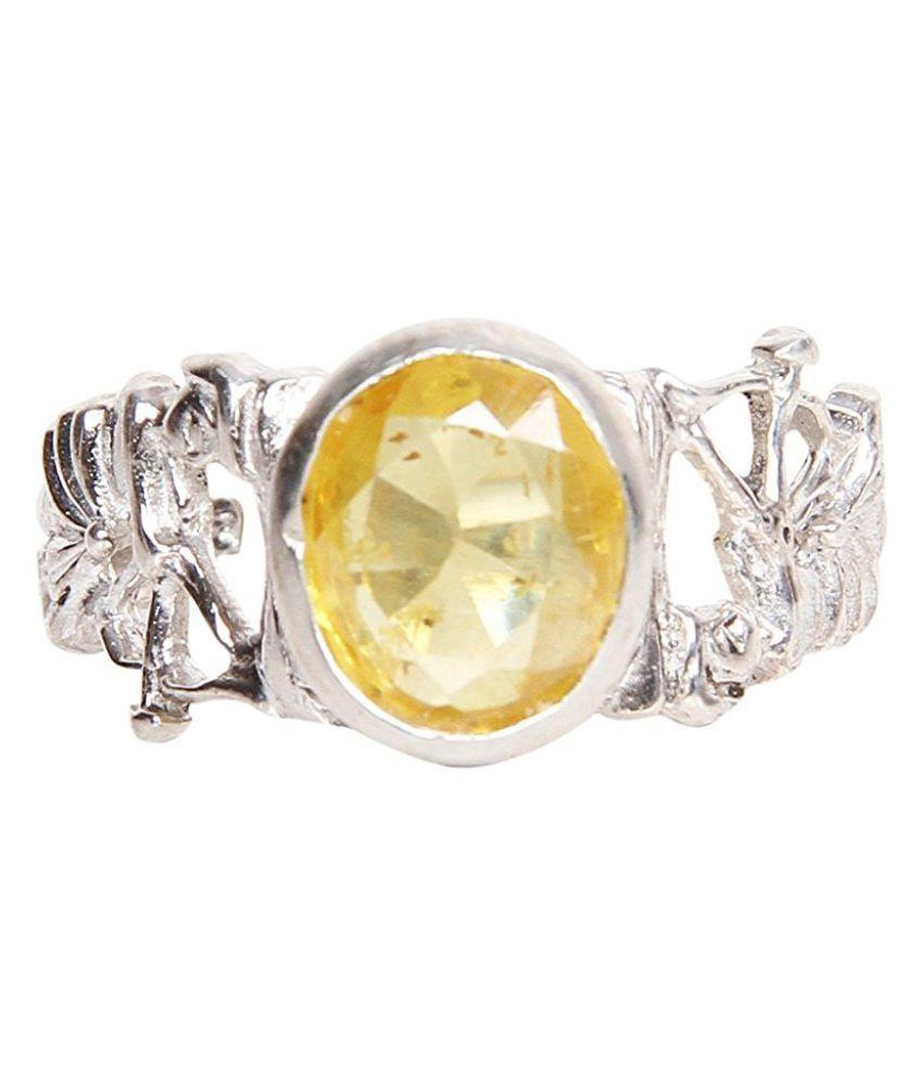 Silverwala 92.5 Silver Sapphire Ring