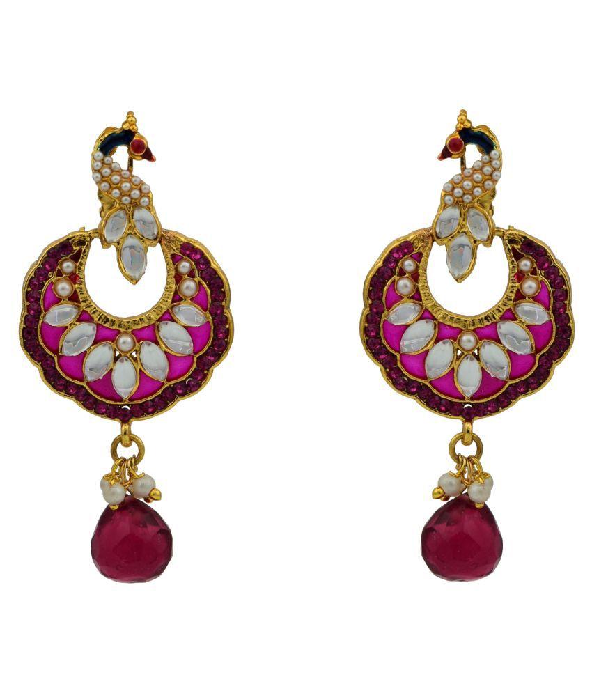 High Trendz Pink Hanging Earrings