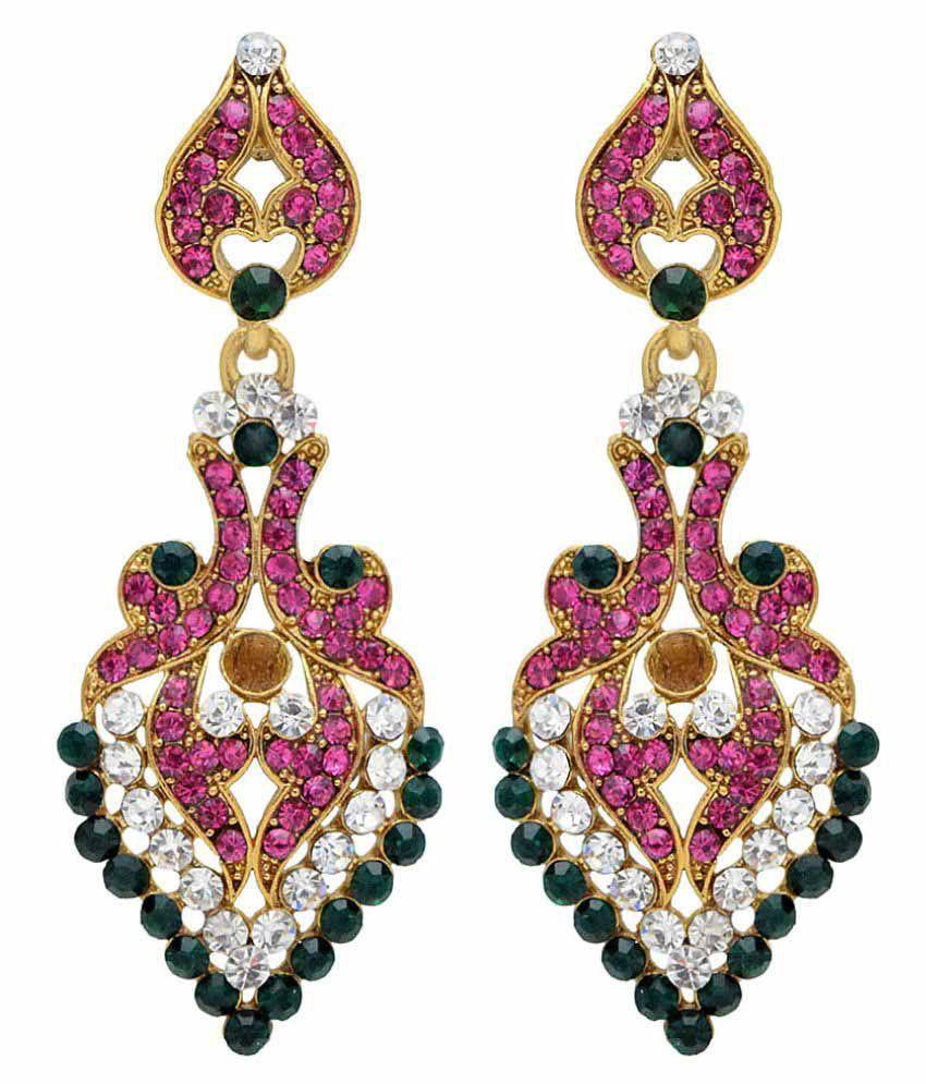 Jewellerkaka Multi Colour Hanging Earrings