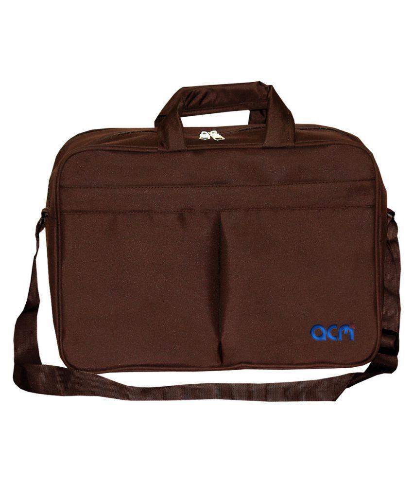 "ACM Apple Macbook Air Mjvp2hn/A 11"" Brown Polyester Office Bag"