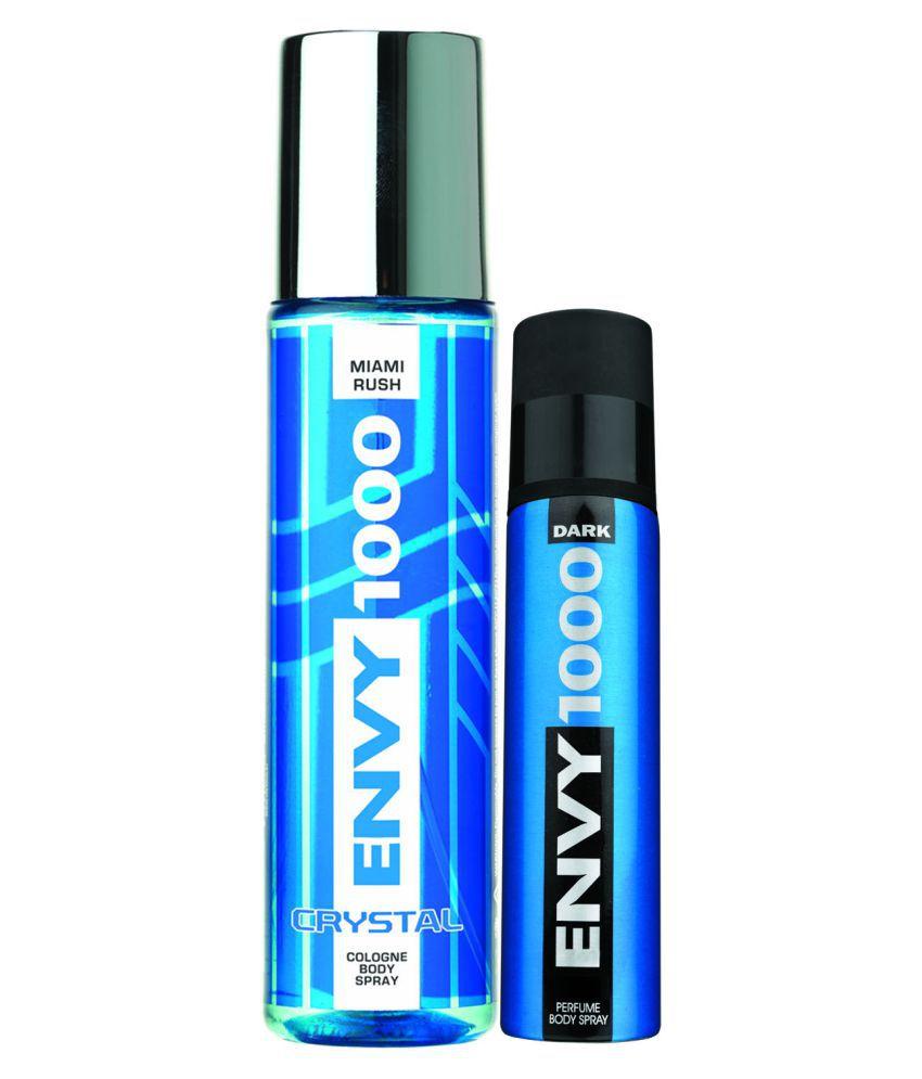Envy 1000 Miami Rush Crystal 135 Ml & Dark Spray Nano 40 Ml
