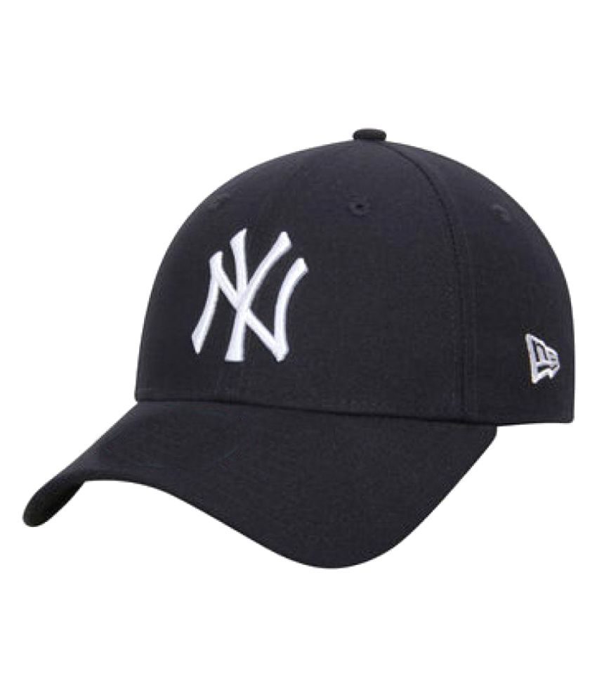 Fas Black Embroidered Cotton Caps