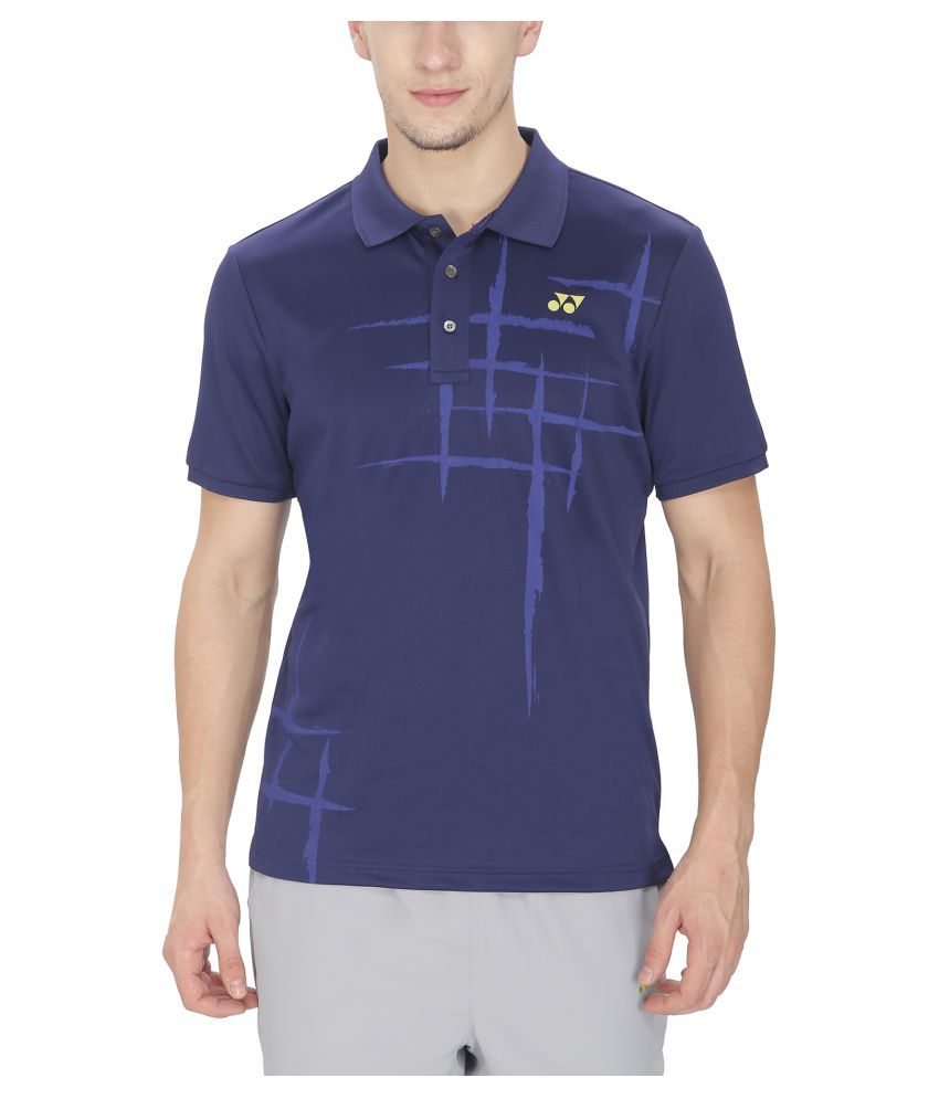 Yonex Badminton Mens Tshirt Patriot Blue (Small)