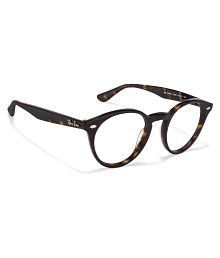 Ray-Ban Brown Round Spectacle Frame Rx 2180 2012 47