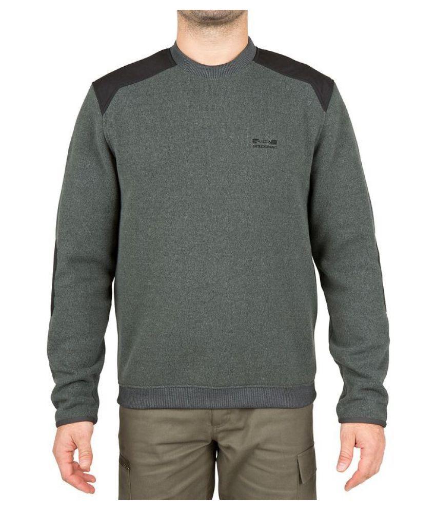 SOLOGNAC Grey Polyester Taiga 300 Men's Sweatshirts By Decathlon