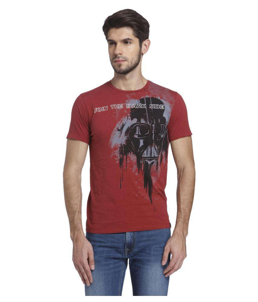 Jack & Jones Red Round T-Shirt