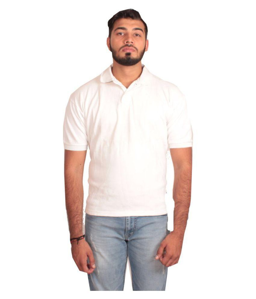 Cersa White Cotton Polo T-Shirt Single Pack