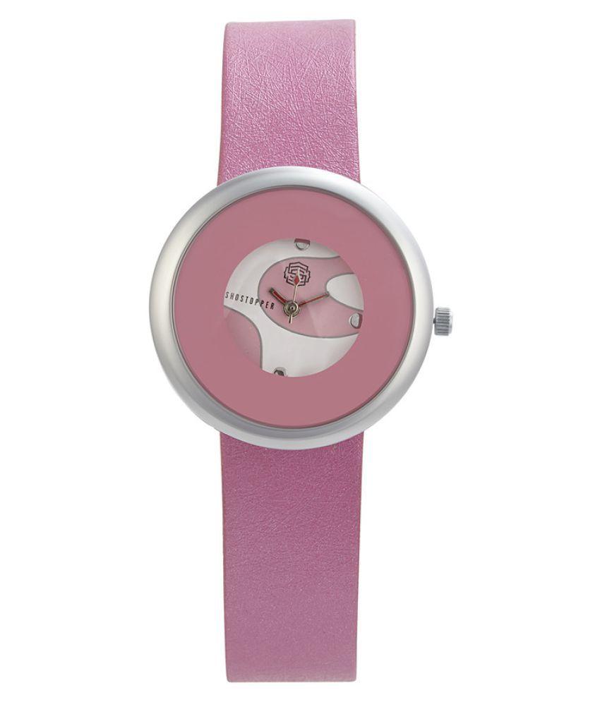 Shostopper Pink Analog Watch + Free Pair of Earrings of Worth INR.199/-
