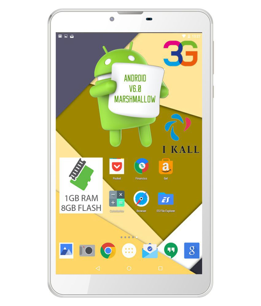 I Kall N6 White ( 3g + Wifi , Voice Calling ) Snapdeal Rs. 3490.00