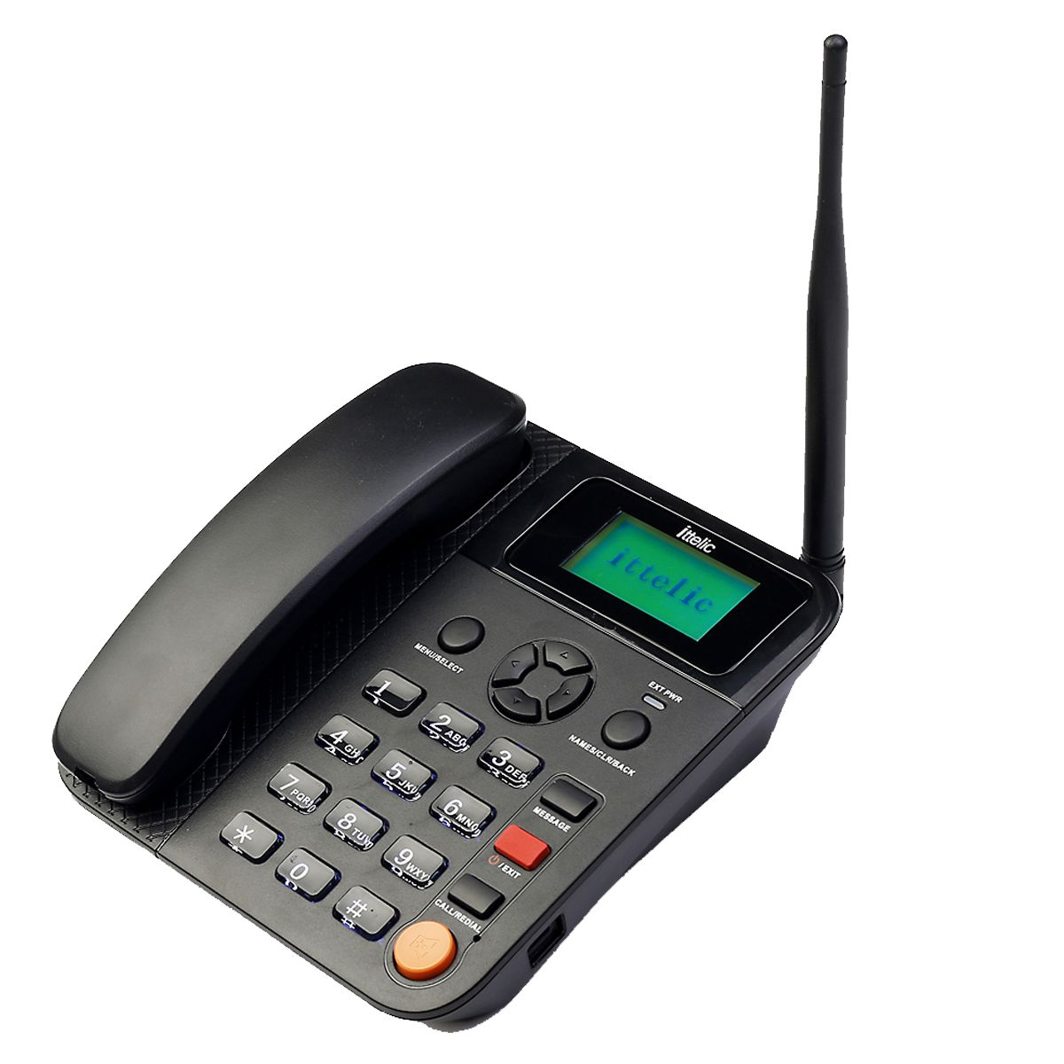 ittelic APP5623 Wireless GSM Landline Phone ( Black ) Dual Sim With FM  Radio and Long Battery Life