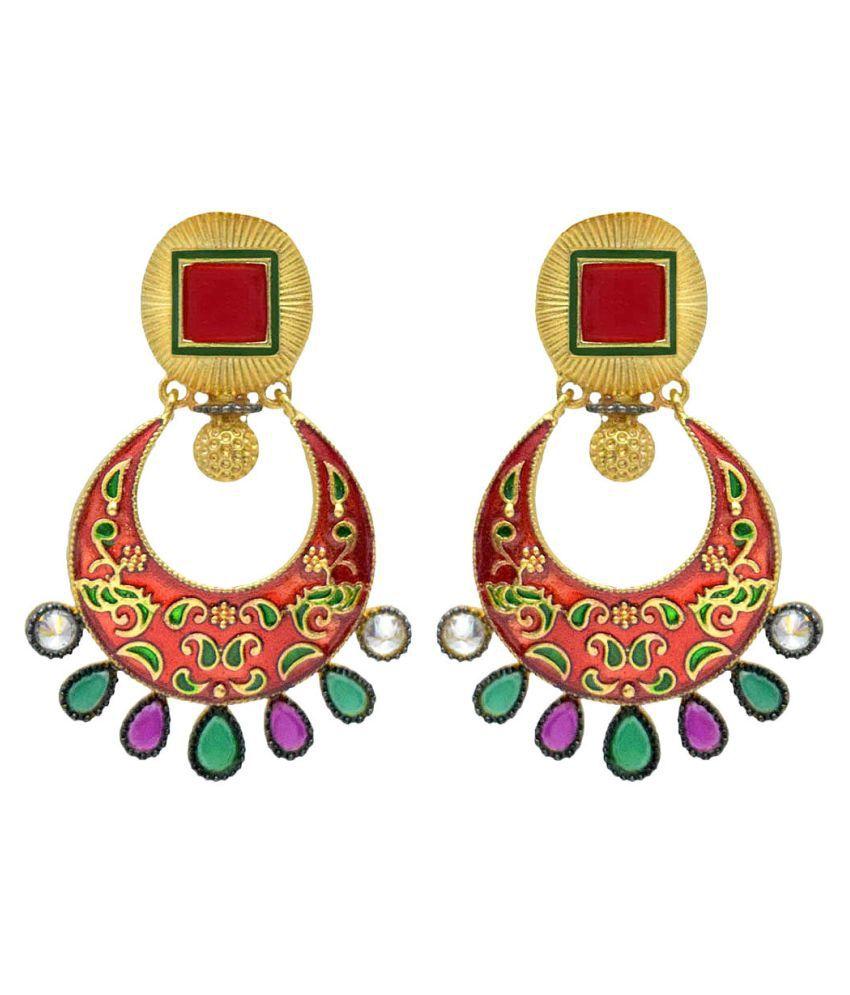 Jewellerkaka Multicolour Earrings - Pair of 2