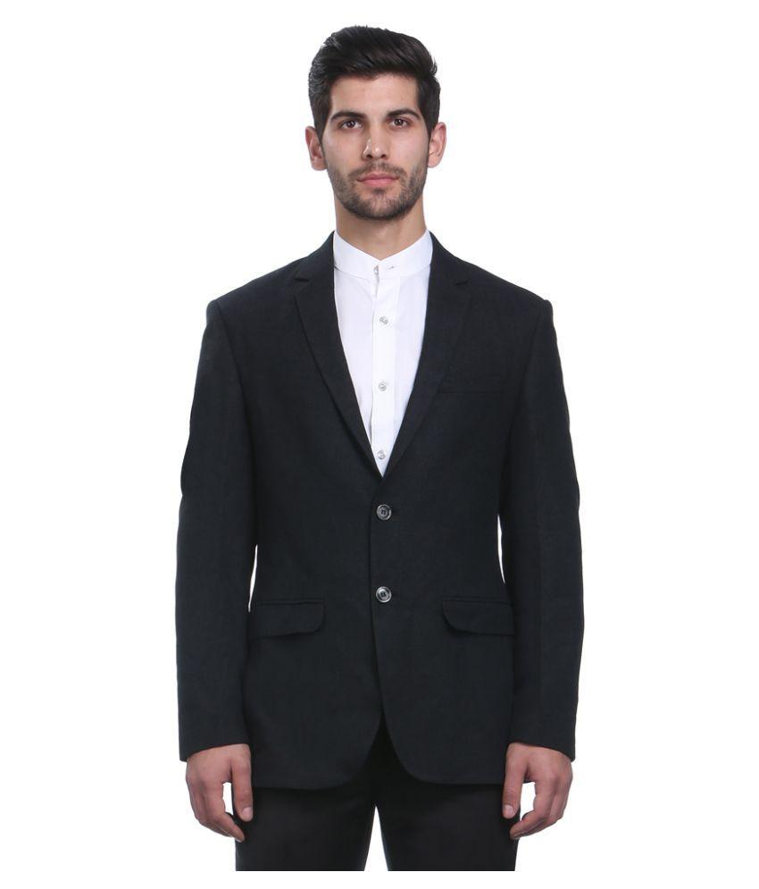 Park Avenue Grey Solid Formal Blazers