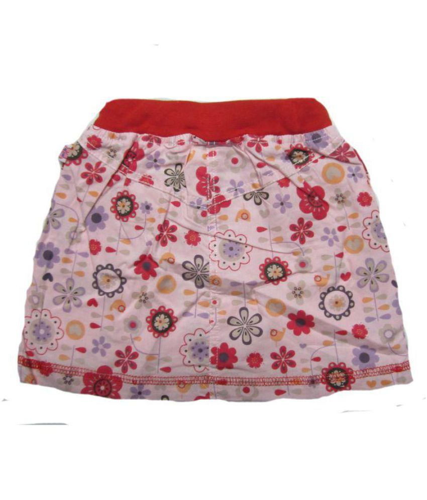 Mama & Bebe Pink Cotton Blend Skirt