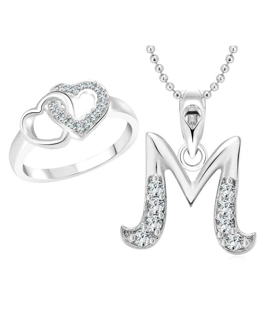 Vighnaharta Hum Tum Heart Ring with Initial Alphabet ''M ...