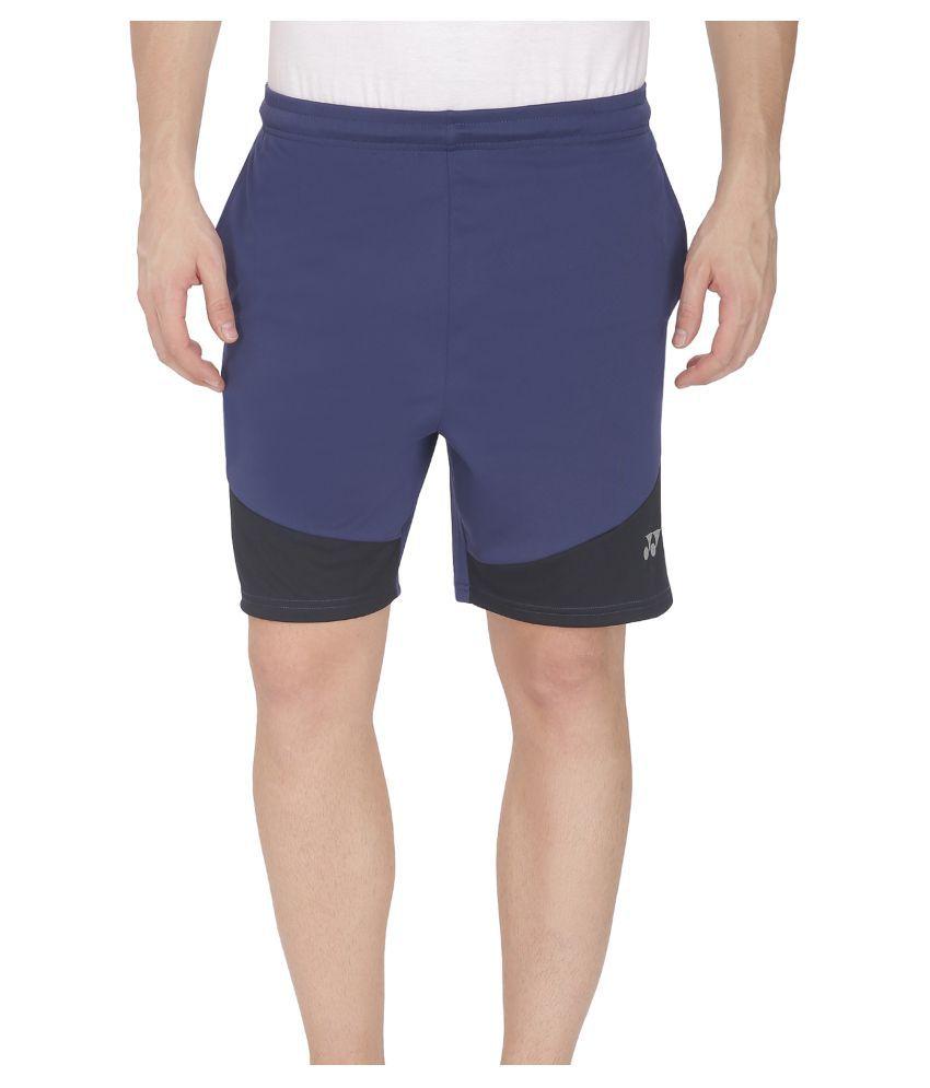 Yonex Blue Polyster Shorts
