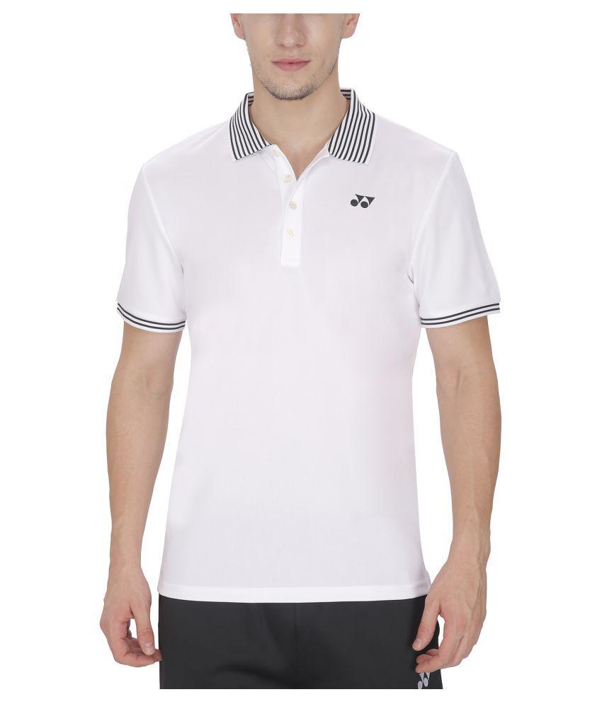 Yonex White Polyester T Shirt