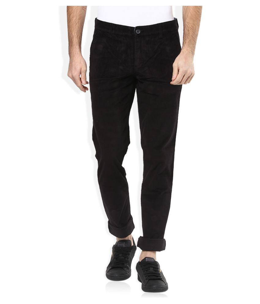 John Players Black Slim Flat Chinos