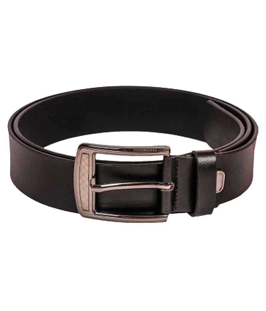 Hide Bulls Black Leather Formal Belts