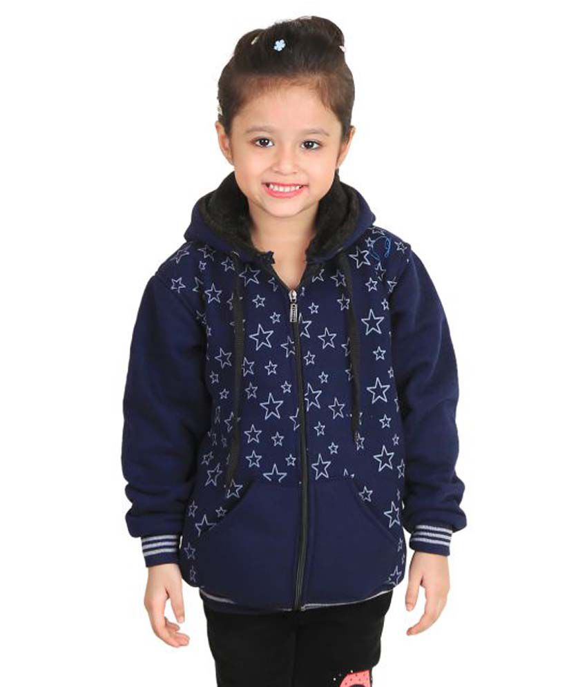 Crazies Dark Blue Jackets for Girls
