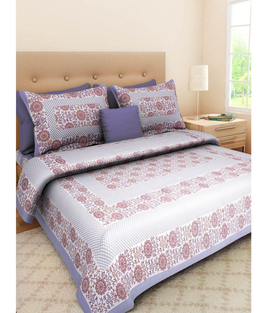UniqueChoice King Cotton Multi Floral Bed Sheet