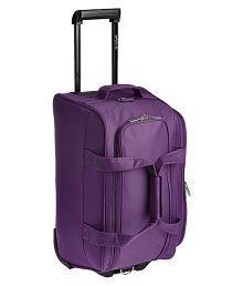 Pronto 2 wheels Solid trolley Duffle Bag Purple