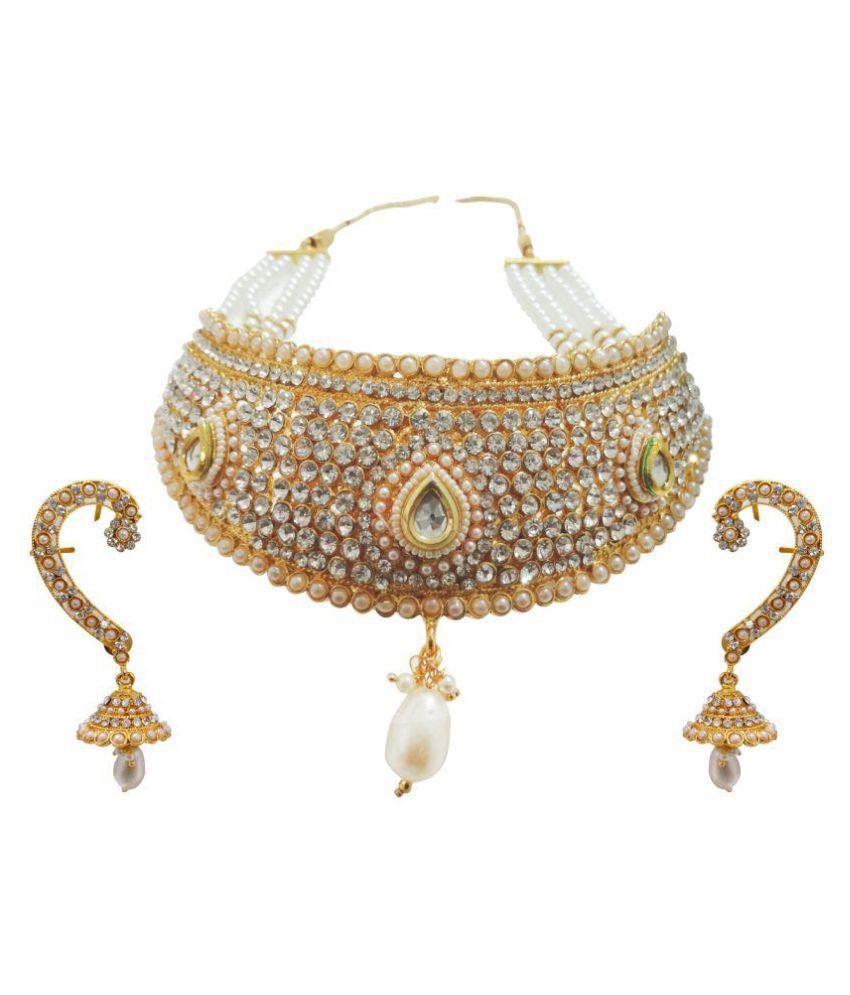 Arts Chetan Golden Necklace Set