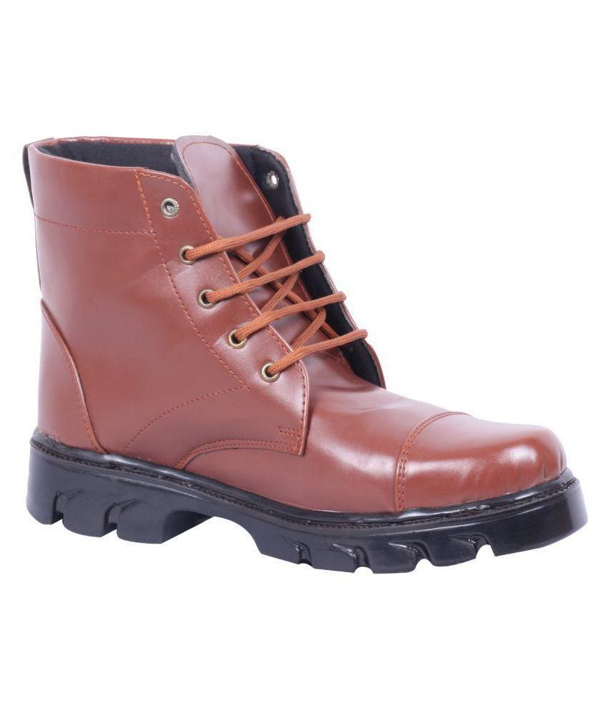 Nuan Military Shoes Brown Casual Boot