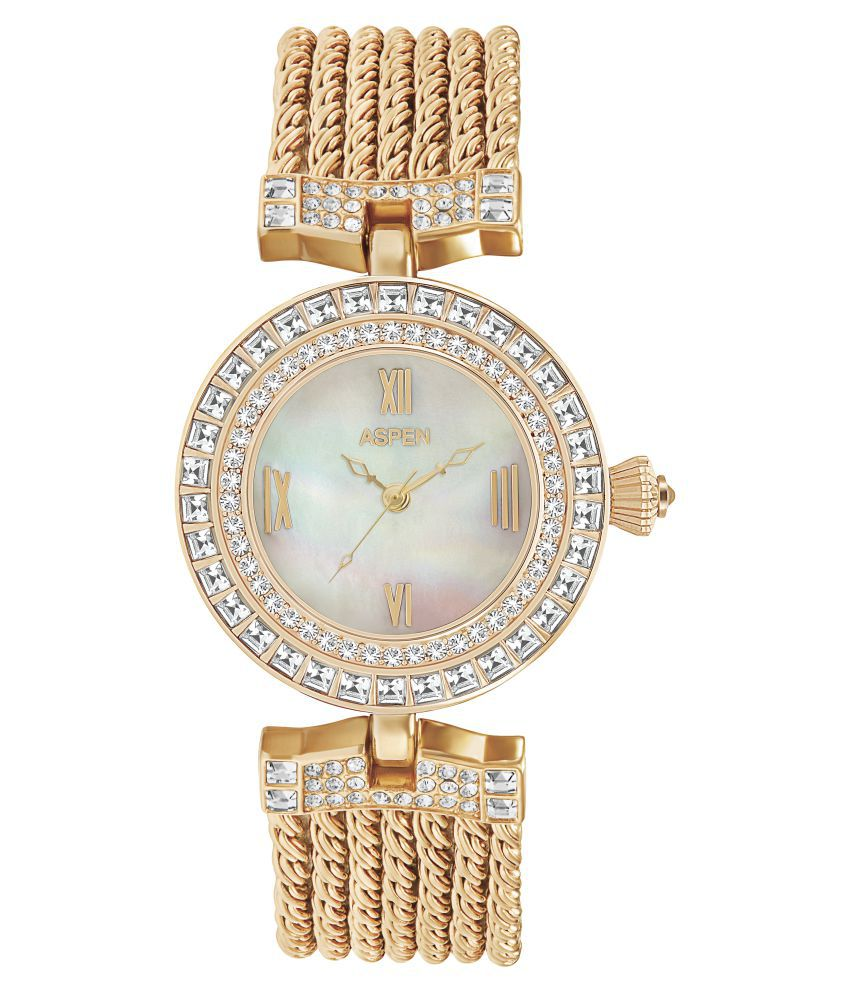 Aspen Rose Gold Analog Brass Watch