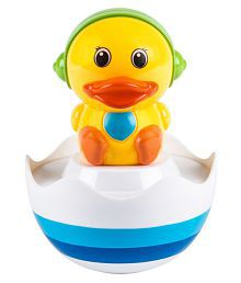 Venus-planet Of Toys Multicolour Smart Tumble Roly Poly Duck With Music For Babies