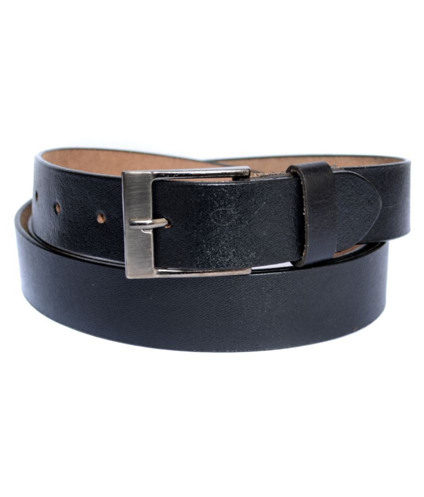 WCL Black Leather Formal Belts