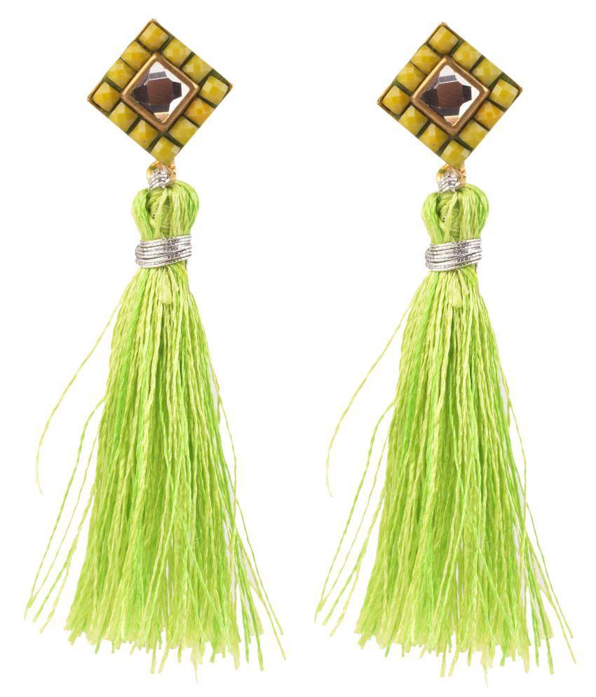 Makezak Green Earrings