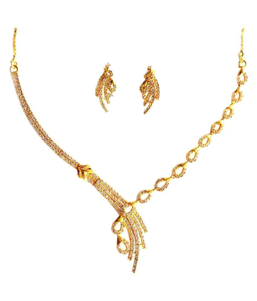 Aashya Mayro Gold Plated Necklace Set