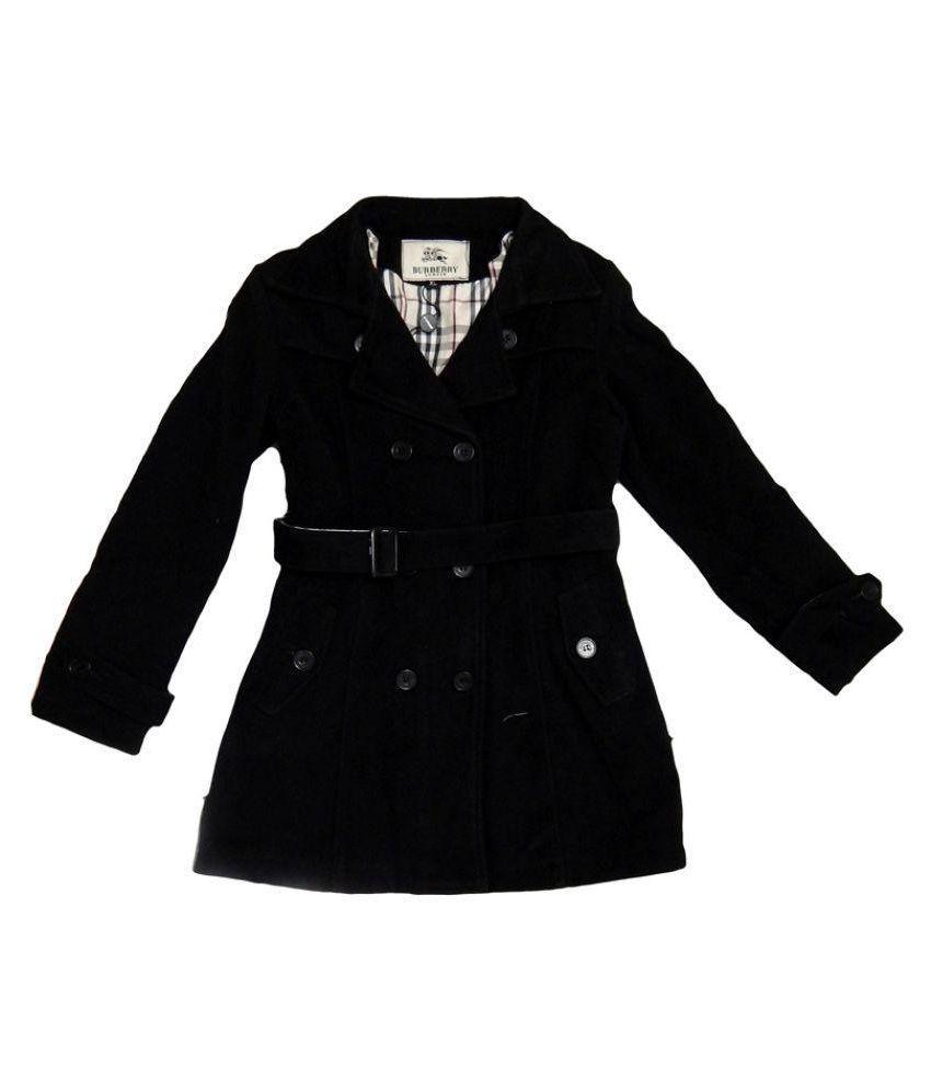 Burberry Black Woolen Coat