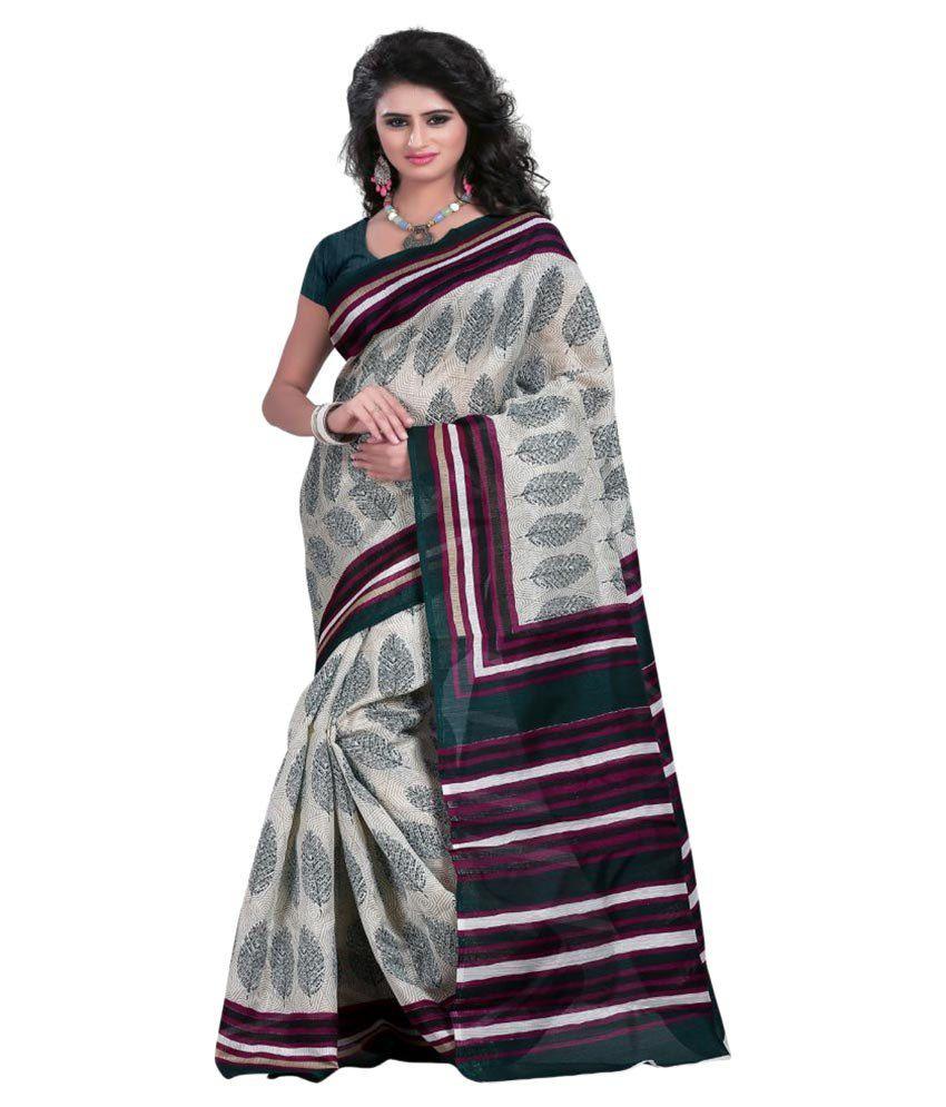 Luga Multicoloured Bhagalpuri Silk Saree