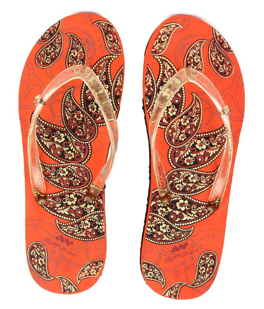 SPUNK Orange Slippers