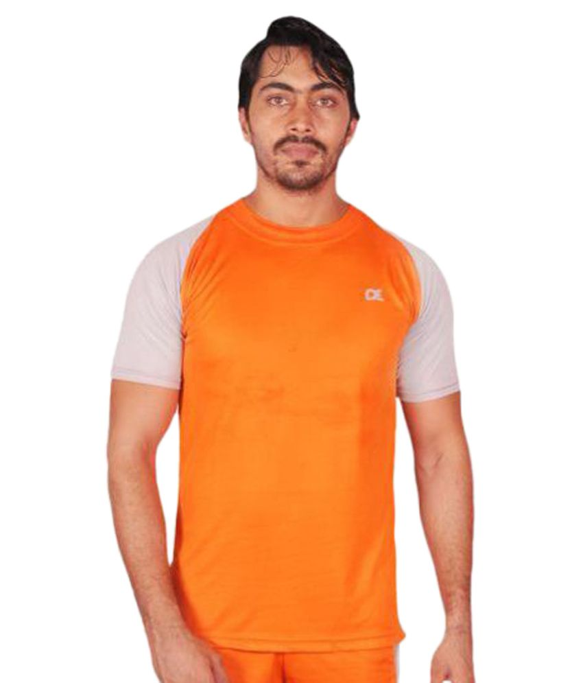 Dyed Colours Orange Round T-Shirt