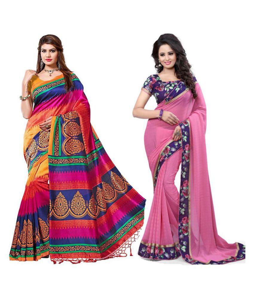 Mastani Multicoloured Bhagalpuri Silk Saree Combos